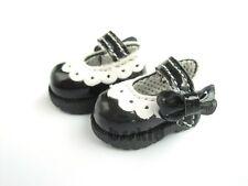 R01 Blythe Lati Yellow 1/12 Doll Shoes BLACK Ribbon Colorful