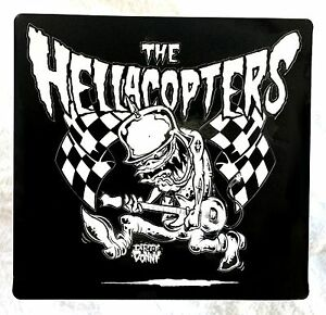 Hellacopters Guitar Monster Sticker Hot Rod Swedish Garage Punk Gearhead Records