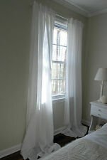 IKEA Pair of White Curtains, Light Diffusing Sheer Plain White, 3 meters Long