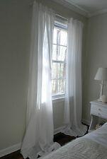 IKEA Paar von weiß Vorhänge, Licht Streu Schiere Plain weiß, 3 meter Lang