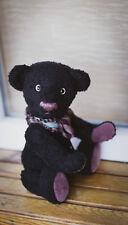Black Artist Schulte Viscose Teddy Bear Stuffed OOAK 13,39 in