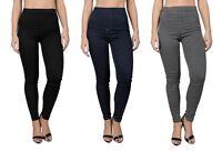 Womens Ex Branded Ladies Pull On High Waist Super Skinny Jeggings Skinny Jeans