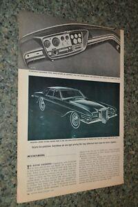 ★1966 DUESENBERG MODEL D ORIGINAL FIRST LOOK ARTICLE 66