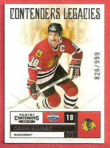 2011-12 Denis Savard Panini Contenders Legacies 826/999 - Chicago Blackhawks