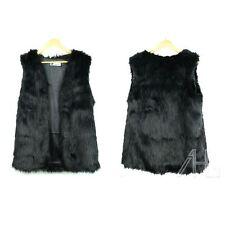 Ladies Faux Fur Vest Waistcoat Gilet Wrap Shrug Sleeveless Jacket Coat Outwear B