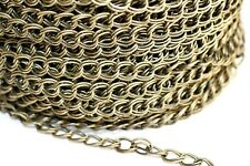 32ft 7x8mm Antique Bronze Double Cable Chain-unsoldered 1 day Ship