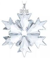NIB Swarovski Annual Edition 2018 Christmas Ornament Snowflake Large #5301575