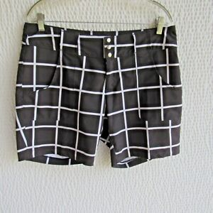 Jofit 8 New Shorts Black White Large Check Snaps