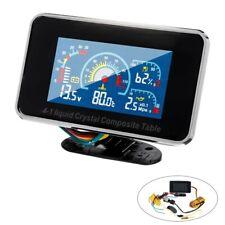 12V/24V 4 in 1 LCD Car Digital ALARM Gauge Pressure Voltmeter Volt Water Te X5C7