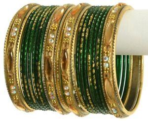 Indian Bangles Set Ethnic Traditional Bracelets Bollywood Bridal Churi 2.8 Gren