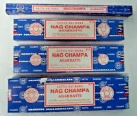 Satya Nag Champa Original Blue Box Incense Sticks: Pick 10 15 40 100 250 gram