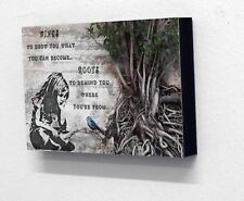 6 X 4 postcard size Block Mounted Picture Plaque Banksy Girl with Bluebird Quote