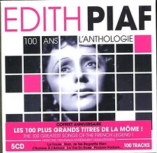 EDITH PIAF - 100 ANS L'ANTHOLOGIE - LES 100 PLUS GRANDS TITRES - 5 CD NEUF CELLO