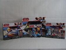 Star Wars Force Link Tie Silencer A-Wing Fighter Police Speeder Starter Kit Lot
