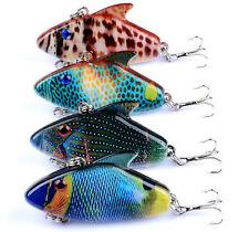 4PCS VIB Fishing Bait Minnow Fishing Lure Crankbait Laser swimming Jerkbait Isca
