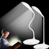 1- LED Desk Lamps Adjustable intensity USB Rechargeable Table Lamp Reading Light
