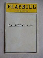 September 1990 - Lucille Lortel Theatre Playbill - Falsettoland -  Gerard