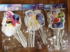 NEW INSIDE OUT 12 PC BIRTHDAY PARTY FAVOR DECORATIVE TOPPERS/USE AS CAKE TOPPERS