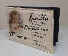 Personalised photo album, memory book, birthday christmas gift, family Mummy