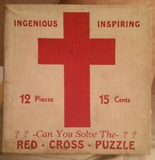RED CROSS PUZZLE VINTAGE WWII UNOPENED ORIGINAL BOX