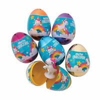 Unicorn-Filled Plastic Easter Eggs - 12 Pc. - Party Supplies - 12 Pieces