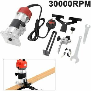 220V Electric Hand Trimmer Palm Router Woodworking Laminate Wood Laminator UK