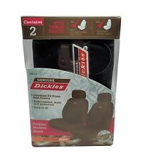Genuine Dickies UNIVERSAL Fit Front Seat Cover Set 2-Pc. Hudson Black NEW!