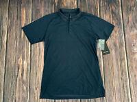Men's LULULEMON Blue Metal Vent Tech Polo 2.0 Athletic Shirt Top Sz L NEW $88