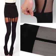 Women Socks Thigh-highs Fake Suspenders Pantyhose Stockings Garter Belt Tights