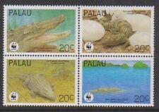 Palau - 1994, The Estuarine Crocadile, WWF set - MNH - SG 673/6