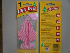 12 Bubble Gum, Little Trees Car Home Office Hanging Air Freshener, 12 pack