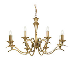 Milo Lighting Kora 8 Light Candle Chandelier in Antique Brass