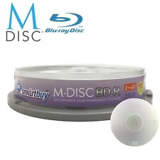 10 Pack Smartbuy M-Disc BD-R 25GB 4X HD 1000 Year Permanent Recordable Disc