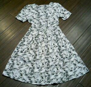 MWOT LuLaRoe AMELIA Gray Black Camo Dress with Pockets Medium