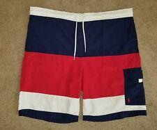 Polo Rugby Ralph Lauren Slim Trunks shorts tri color block vintage 90s XL