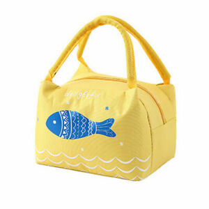 Tote Bag Womens Kids Mens Lunch Cooler Thermal Bags Insulated Foods Canvas Box