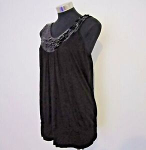 NEW! City Chic Black Sequinned Top Size XS 14