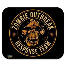 Zombie Outbreak Response Team Skull Low Profile Thin Mouse Pad Mousepad