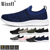 Wisstt Men's Pumps Slip On Mesh Flat Loafers Trainers Sneakers Casual Boat Shoes
