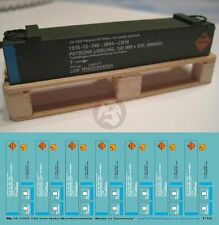 Peddinghaus 1/16 120mm NATO Tank Ammunition Crate Markings (7 Ammo crates) 3193