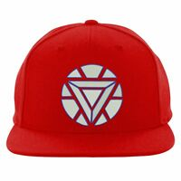 Iron Man Arc Snapback, Reactor Triangle logo Hat, Embroidered Design