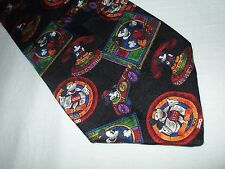 Mickey & Co. Mickey Mouse Phone Race Car Tie 100% Silk Made In U.S.A. Cartoon