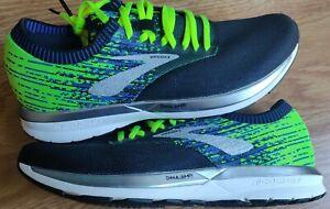 BROOKS RICOCHET Mens Knit Road Running Shoes Black Volt Silver NEW sz 10.5 DNA