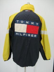 M1861 VTG Men's Tommy Hilfiger Back Big Logo Windbreaker Jacket Size S