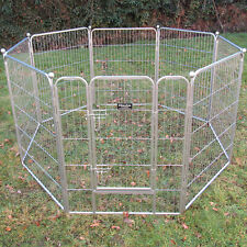 6, 8, 12 Panel Heavy Duty Pet Playpen Cage Dog Rabbit Metal Run Fence Enclosure