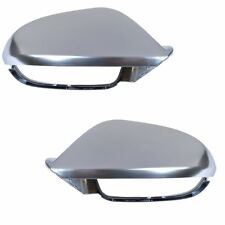 2 COQUE RETROVISEUR GRIS ALU AUDI A6 S6 RS6 C7 apres 04/2011 SANS SIDE ASSIST