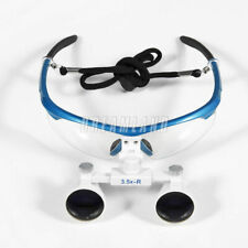3.5 X R Dental  Chirurgie  Binoculaires Loupes Dentaire Magnifier Loupes Blue