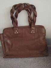 Ladies Genuine Brazilian Leather Handbag, leather interior, chocolate brown.