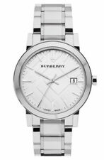 Burberry BU9100 Large Check Silver Swiss Stainless Steel 34mm Women's Watch