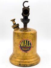 Vintage Estate Wall Pistogrip Brass Blow Torch! 69